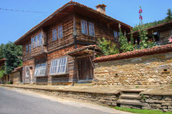 Retro house in eastern europe Royalty Free Stock Photo