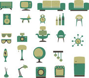 Retro household set. A collection of retro household Royalty Free Stock Photography