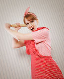 Retro housewife Royalty Free Stock Images