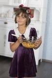Retro housewife Royalty Free Stock Photo