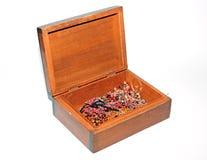 Retro houten doos van Nice Stock Afbeeldingen