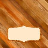 Retro houten frame met ruimte. + EPS8 Stock Afbeelding