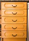 Retro houten kast Royalty-vrije Stock Foto