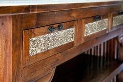 Retro houten lijst Royalty-vrije Stock Foto's