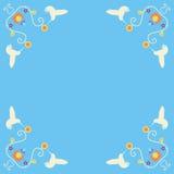 Retro Hummingbird Corners royalty free stock photography