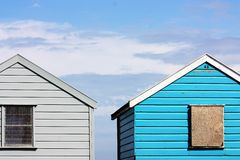 Retro huts Stock Images