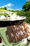 Retro huwelijk royalty-vrije stock foto