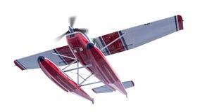 Retro hydroplan ilustracja 3 d czynią Śmigło jest płodozmienny i zamazany ilustracji