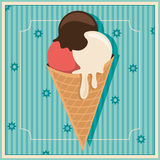 Retro ice cream. Stock Photography