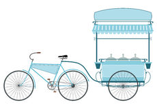 The ice cream bike. Royalty Free Stock Photography