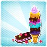 Retro Ice cream menu Royalty Free Stock Image