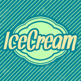 Retro Ice Cream Template - Vintage Background Stock Image
