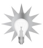 Retro light bulb Stock Image