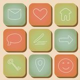 Retro icon set Royalty Free Stock Photography
