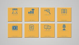 Retro icon sets - blog icons Stock Image