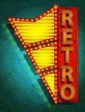 Retro icon - signboard Stock Photo
