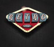 Retro icon - signboard Stock Images