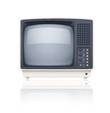 Retro icona del set televisivo di vecchio stile Fotografia Stock Libera da Diritti