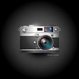Retro icona della macchina fotografica Immagini Stock