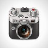 Retro icona della macchina fotografica XXL di vettore Fotografia Stock Libera da Diritti