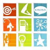Retro icone di divertimento (vettore) Fotografia Stock