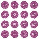 Retro icone di vendita, autoadesivi della modifica o contrassegni royalty illustrazione gratis