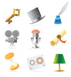 Retro icons Stock Image