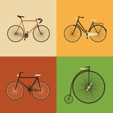 Retro Icons - Bicycles Stock Image