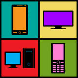 Retro icons Royalty Free Stock Photo