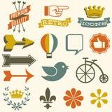 Retro Icons Royalty Free Stock Photos