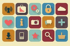 Retro icons set Royalty Free Stock Photography