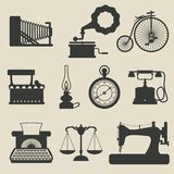 Retro icons. Set of retro icons - vector illustration Royalty Free Stock Image