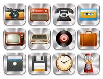 Retro icons Royalty Free Stock Photo