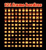 Retro illuminated movie marquee vector set. Simple neat flat style Stock Photos