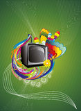 Retro illustratie van de TV abstracte kleur Stock Afbeelding