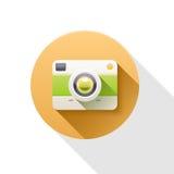 Retro illustratie van het Camera vlakke pictogram Stock Foto