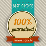 Retro illustration of a best choice message Stock Images