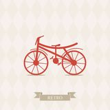 Retro Illustration Bicycle. Stock Image