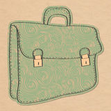 Retro illustration with briefcase Stock Images