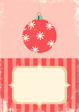 Retro illustration of Christmas ball Royalty Free Stock Photography