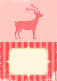 Retro illustration of Christmas deer Royalty Free Stock Photos