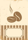 Retro illustration of coffee Stock Photography