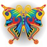 Retro- Illustration der bunten Schmetterlinge stock abbildung