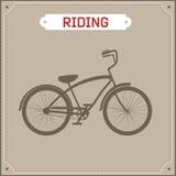 Retro- Illustration des Hippie-Fahrrades Lizenzfreie Stockfotos