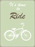 Retro- Illustration des Hippie-Fahrrades Lizenzfreie Stockbilder