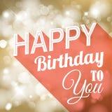 Retro illustration för lycklig födelsedag Royaltyfria Foton