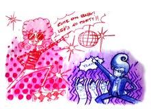 Retro illustration för diskoparti Royaltyfri Bild
