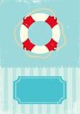 Retro illustration of life buoy. Retro illustration of marine life buoy Stock Images