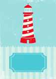 Retro illustration lighthouse Royalty Free Stock Photos