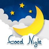Retro illustration moon. Wishing good night. EPS10 vector Royalty Free Stock Images